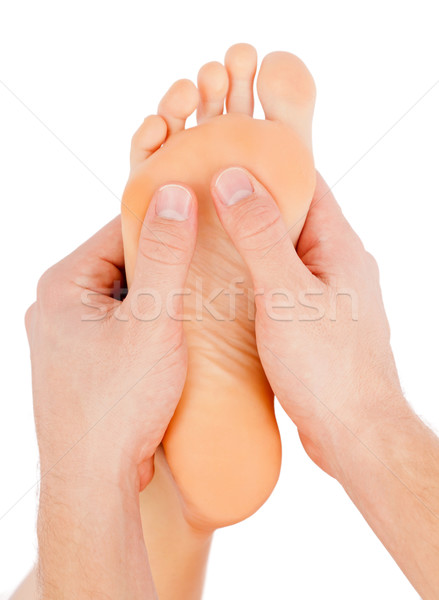 ногу массаж девушки красоту расслабиться Сток-фото © ocskaymark