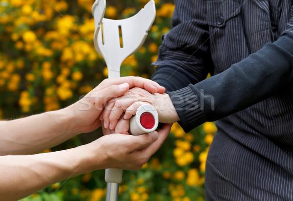 помочь пожилого стороны опора Сток-фото © ocskaymark