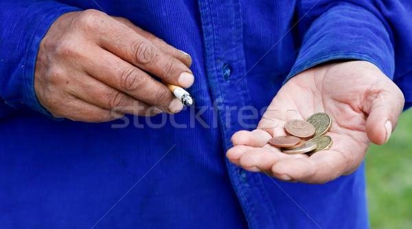 Necesitado manos sucia mano mujeres Foto stock © ocskaymark