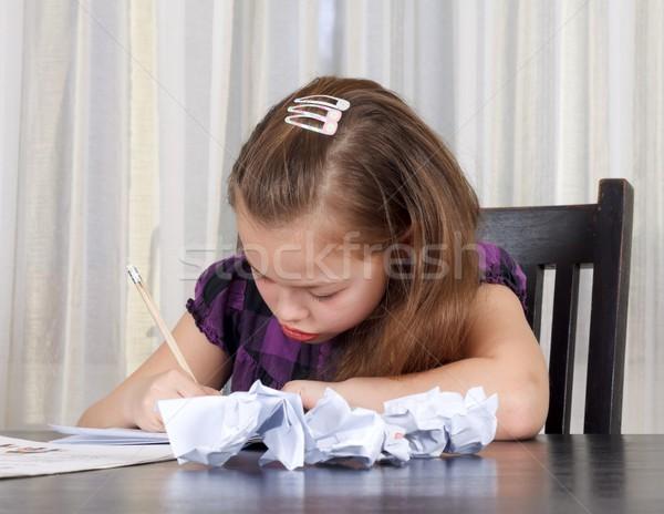 домашнее задание портрет бумаги книга школы Сток-фото © ocskaymark