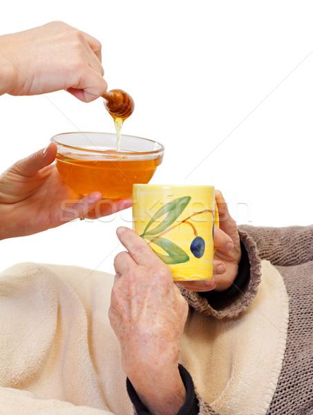 Idő gyógyulás kép nő kéz tea Stock fotó © ocskaymark