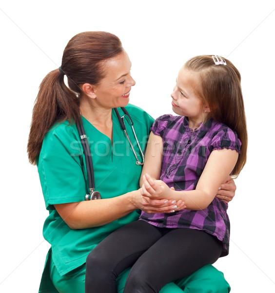 врач портрет женщину ребенка стороны Сток-фото © ocskaymark