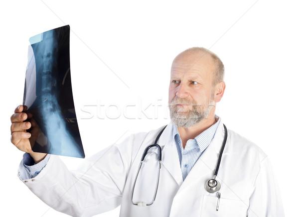 Vizsgálat röntgen komoly orvos tart gerinc Stock fotó © ocskaymark