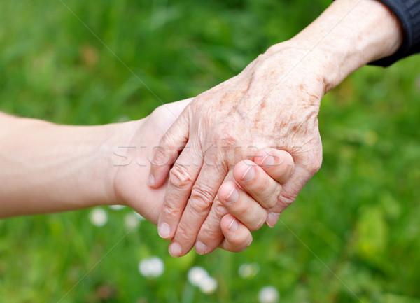 Help medici mano anziani Foto d'archivio © ocskaymark