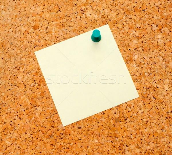 Memorándum papel vacío amarillo Foto stock © ocskaymark