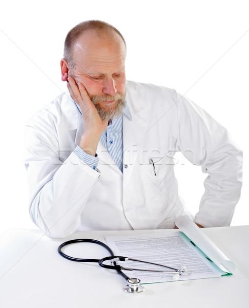 мышления врач портрет белый медицинской здоровья Сток-фото © ocskaymark