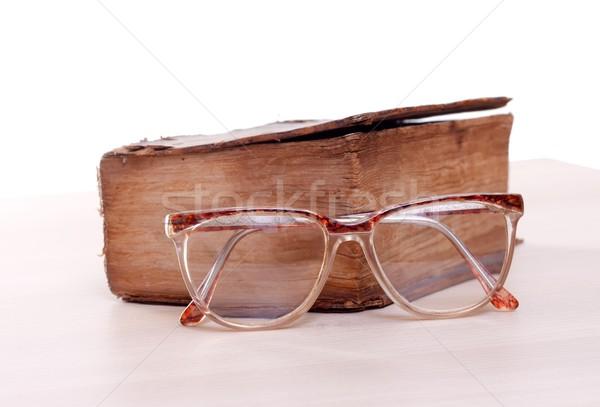 Oude verhalenboek papier boek Stockfoto © ocskaymark