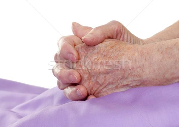 Сток-фото: рук · старые · молиться · кровать