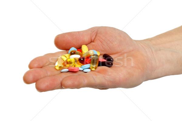 Doença prevenção adulto mãos Foto stock © ocskaymark