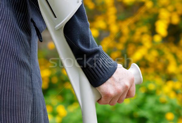 пожилого жизни инвалид женщину ходьбе саду Сток-фото © ocskaymark