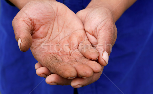 Necesitado manos mendigo gitano mano Foto stock © ocskaymark