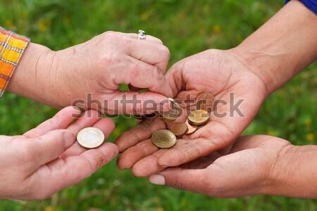 Muhtaç eller kirli el kadın Stok fotoğraf © ocskaymark