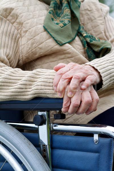 пожилого жизни инвалид сидят коляске Сток-фото © ocskaymark