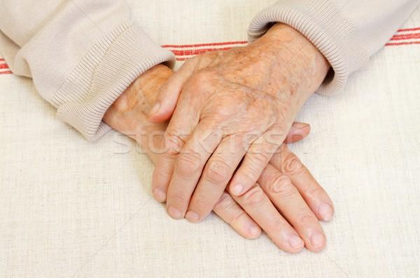 Esperança idoso mão mulher Foto stock © ocskaymark
