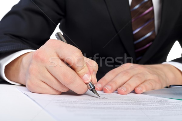 Signing the document Stock photo © ocskaymark