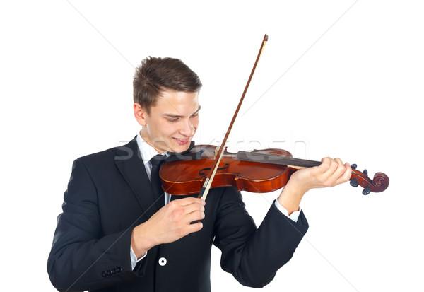 Hang szükség szólista játszik hegedű férfi Stock fotó © ocskaymark