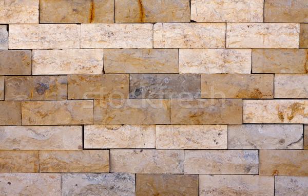 каменной стеной фотография Vintage треснувший стены ретро Сток-фото © ocskaymark