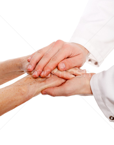 изолированный рук врач пациент стороны Сток-фото © ocskaymark