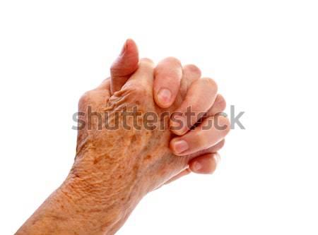 Idős kéz idős nő izolált test egészség Stock fotó © ocskaymark