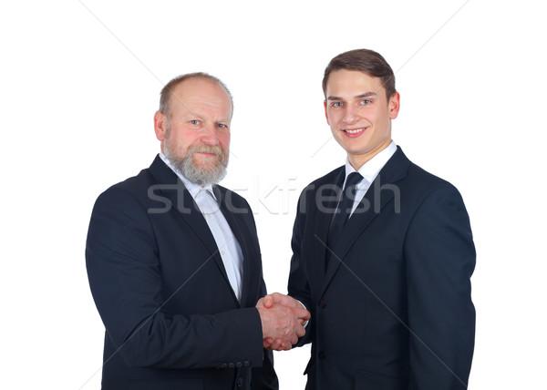 дело портрет два бизнесмен рукопожатие бизнеса Сток-фото © ocskaymark