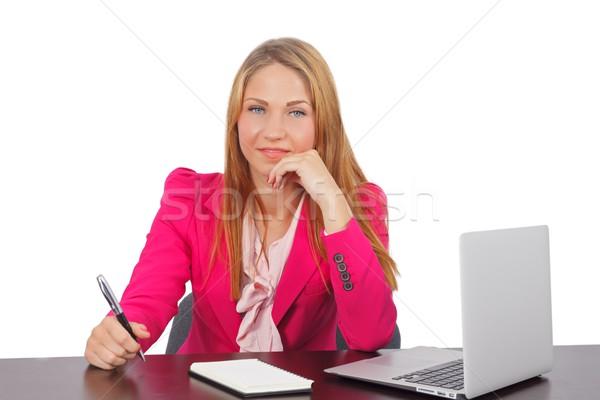 Di successo imprenditrice ritratto sorridere ufficio business Foto d'archivio © ocskaymark
