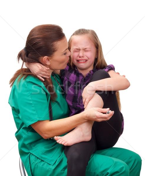 Medico ritratto donna bambino mano Foto d'archivio © ocskaymark