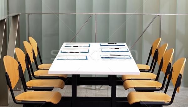 Apresentação quadro negócio tabela caneta projeto Foto stock © ocskaymark