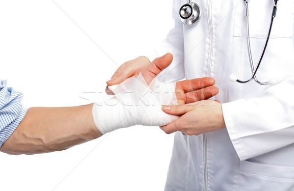 Quebrado mão médico médico branco pessoa Foto stock © ocskaymark