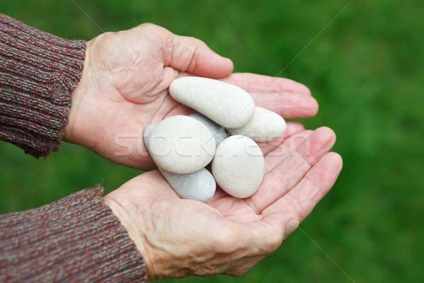 Pedras idoso homem mãos mão Foto stock © ocskaymark