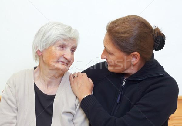 Mulher mãe retrato idoso família feliz Foto stock © ocskaymark
