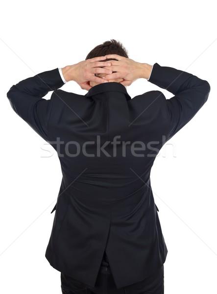 Сток-фото: голову · более · портрет · бизнесмен · изолированный · человека