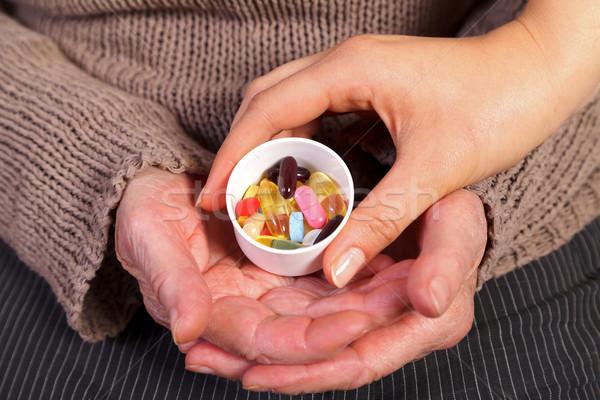 болезнь предотвращение медсестры стороны таблетки Сток-фото © ocskaymark