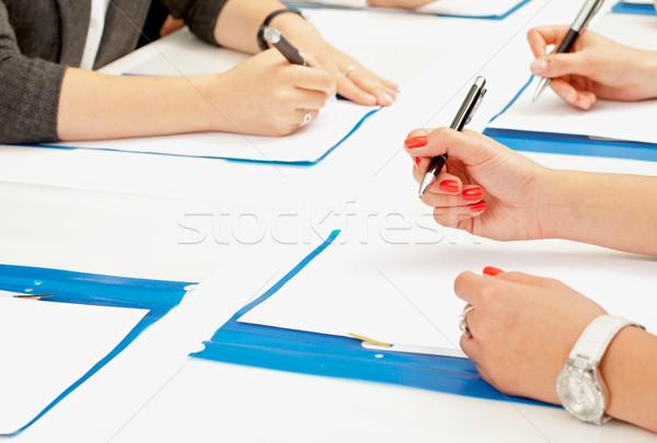 дело фотография стороны подписания договор бумаги Сток-фото © ocskaymark