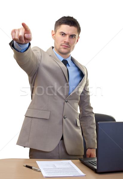 Zangado empresário quadro escritório homem terno Foto stock © ocskaymark