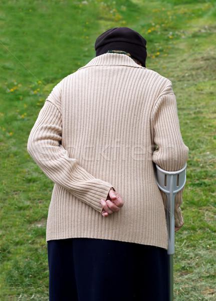 пожилого жизни ходьбе саду медицинской Сток-фото © ocskaymark