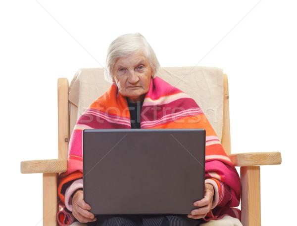 Aposentados vida retrato idoso computador casa Foto stock © ocskaymark