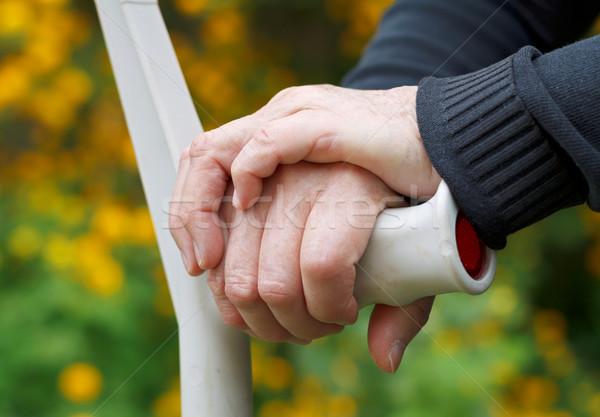 Yaşlı hayat el koltuk değneği Stok fotoğraf © ocskaymark