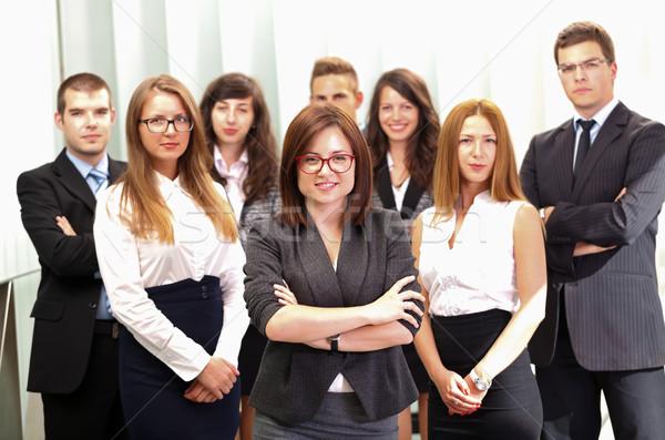заседание бизнес-команды Постоянный служба успешный бизнеса Сток-фото © ocskaymark