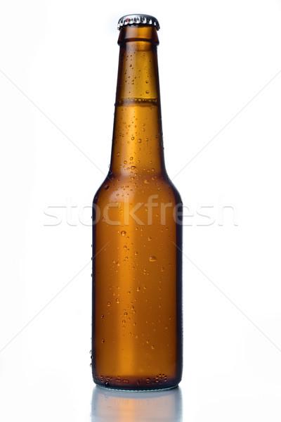 Nesneler soğuk beyaz bira arka plan Stok fotoğraf © ocusfocus
