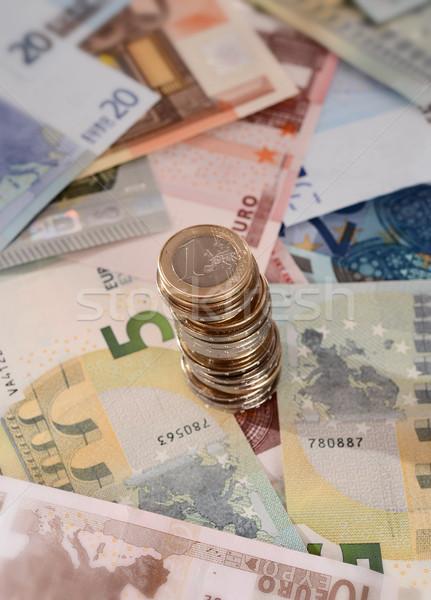 Euro madeni para yalıtılmış makro Stok fotoğraf © ocusfocus