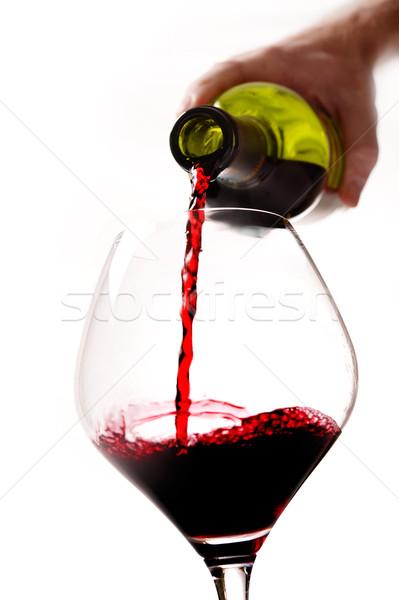 Adam el şişe doldurma cam Stok fotoğraf © ocusfocus