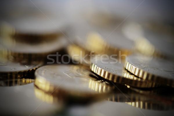 Euro madeni para yalıtılmış makro sığ doku Stok fotoğraf © ocusfocus