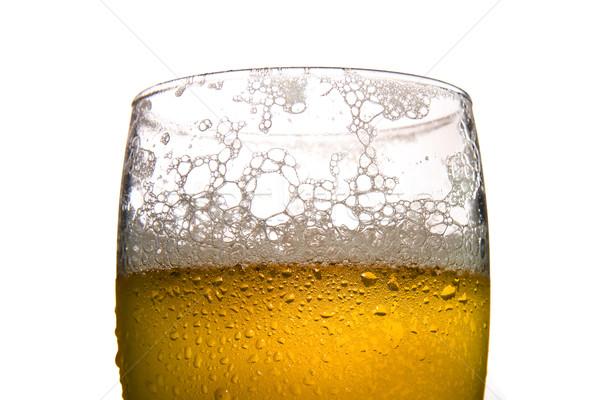 Cam bira soğuk beyaz su parti Stok fotoğraf © ocusfocus