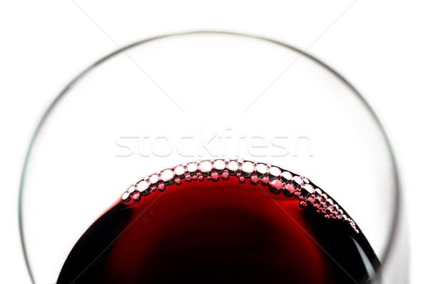Cam kabarcıklar yalıtılmış beyaz içmek Stok fotoğraf © ocusfocus