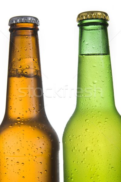 Soğuk bira şişeler beyaz su Stok fotoğraf © ocusfocus