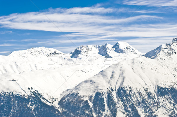 Panoramic view of the swiss Alps Stock photo © ocusfocus