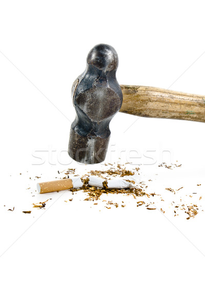 Hammer Destroying Cigarette Stock photo © ocusfocus