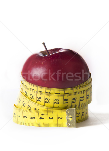 Alma szabó szalag diéta egészség piros Stock fotó © ocusfocus