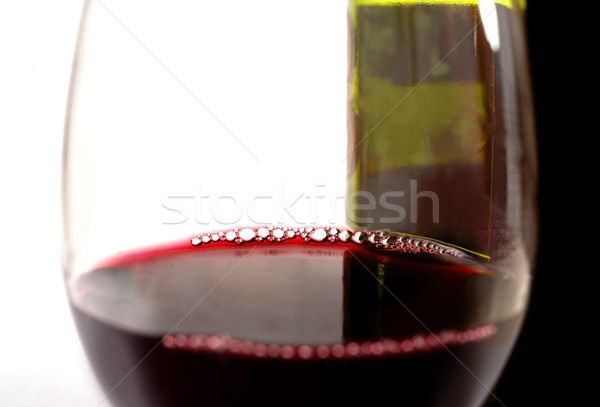 Close Up Glass of Red and Bottle  Stock photo © ocusfocus