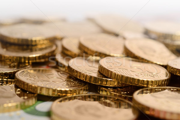 euro coins piled isolated Stock photo © ocusfocus